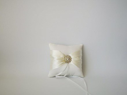 Ivory Satin Ring Cushion 10cm x 10cm Ivory-Satin-Ring-Cushion-10cm-x-10cm