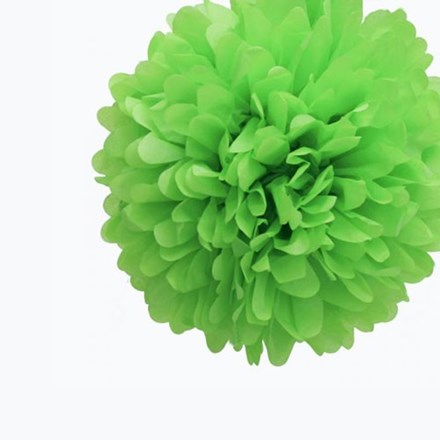 Green Tissue Pom Pom - Medium Green-Tissue-Pom-Pom---Medium