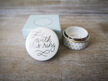 'With this Ring' Ring box rosannaringbox