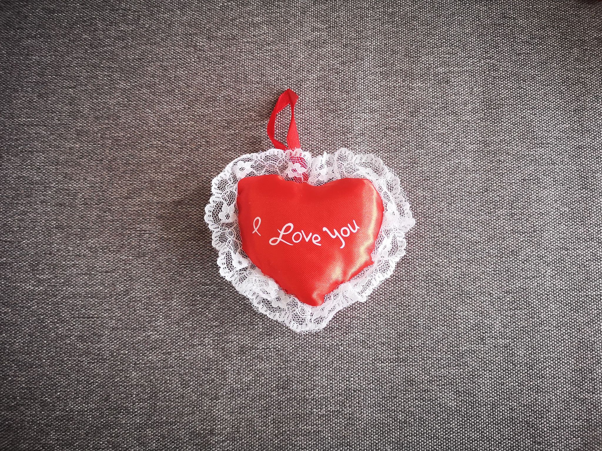 """Small """"I Love You'' Heart 8cmsatinheart"""
