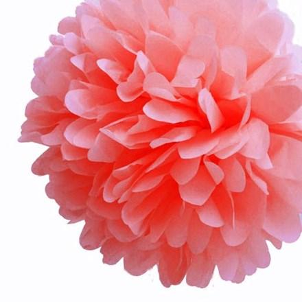 Coral Tissue Pom Pom - Large Coral-Tissue-Pom-Pom---Large