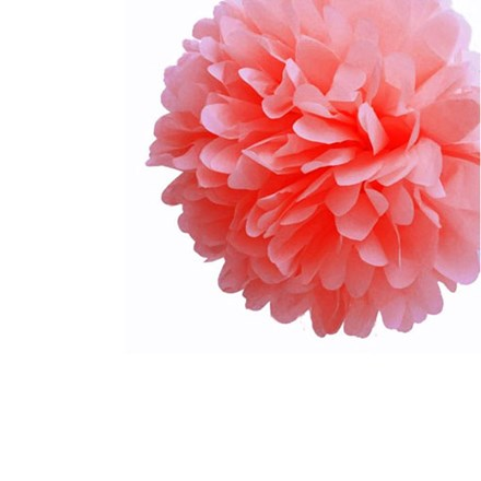 Coral Tissue Pom Pom - Small Coral-Tissue-Pom-Pom---Small