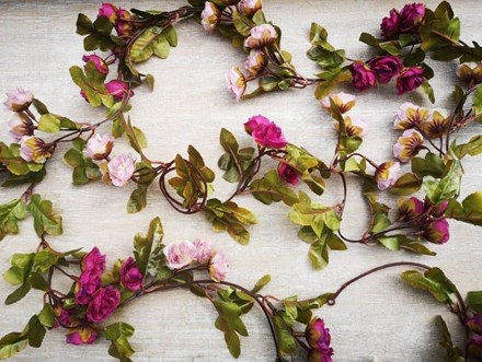 Mulberry Small Rose Garland 2.2m 60mulberrygarland