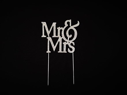 Mr & Mrs Diamante Cake Topper Mr-and-Mrs-Diamante-Cake-Topper