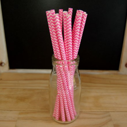 Hot Pink Chevron Straws Hot-Pink-Chevron-Straws