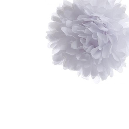 White Tissue Pom Pom - Small White-Tissue-Pom-Pom---Small