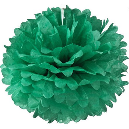 Teal Tissue Pom Pom - Large Teal-Tissue-Pom-Pom---Large