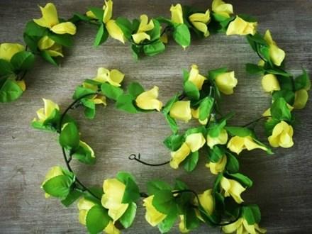 Small Yellow Rose Garland 2m yellowsmgarland