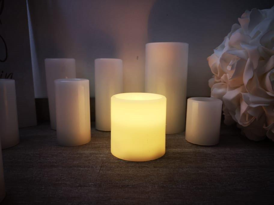 Wax Candle with LED Light 7.5cm LB840