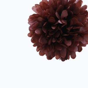 Chocolate Brown Tissue Pom Pom - Small Chocolate-Brown-Tissue-Pom-Pom---Small