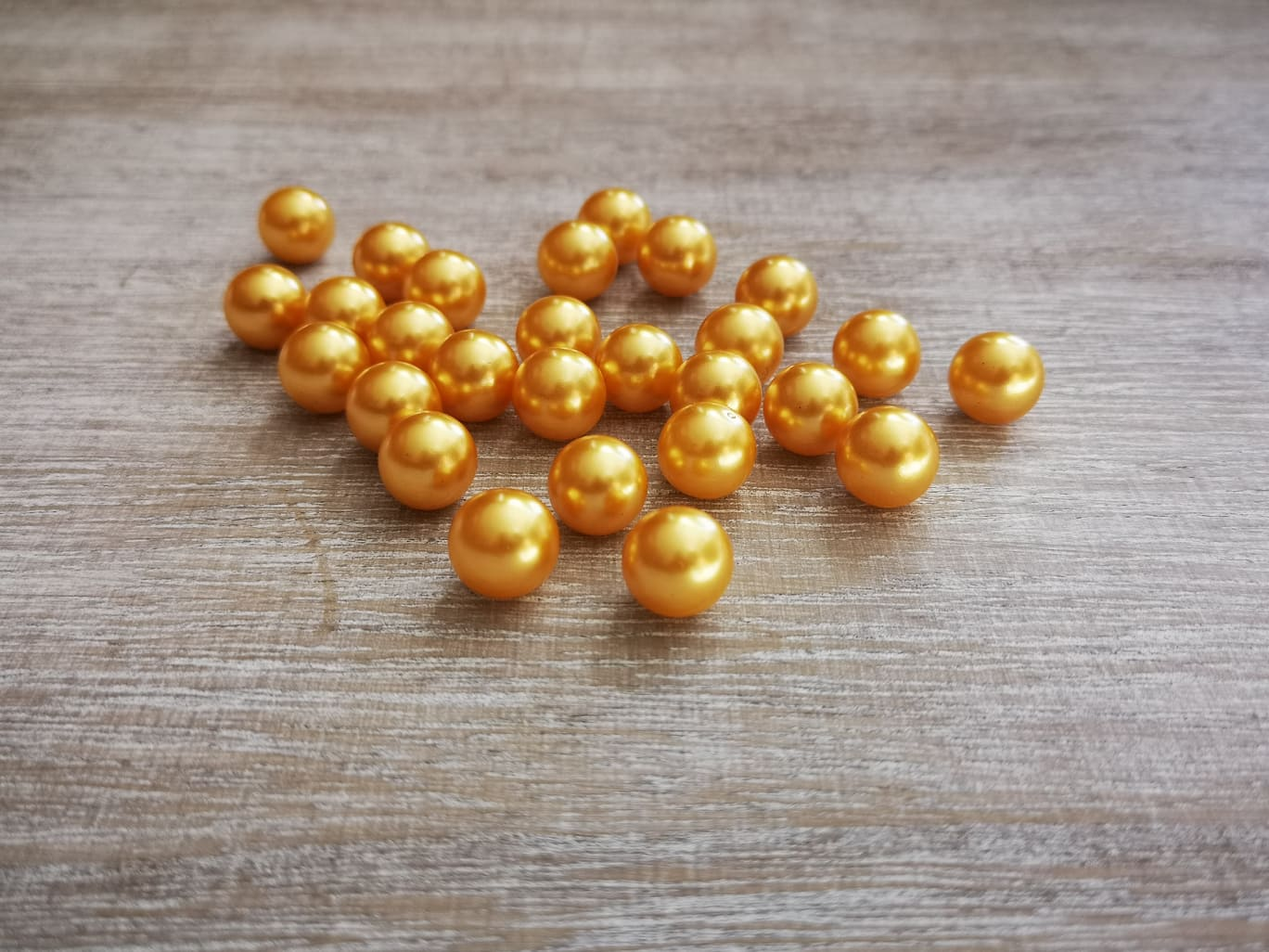 Gold Acrylic Pearls 12mm Gold pearls 12mm