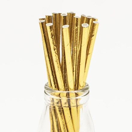 Gold Foil Straws 25pcs Gold-Foil-Straws-25pcs