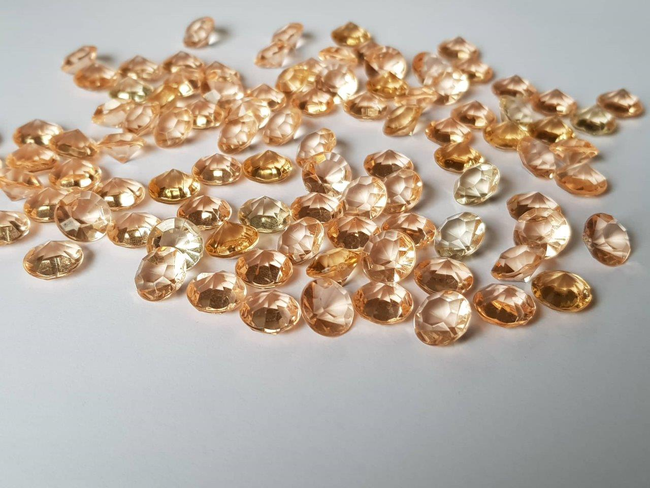 Champagne Gold Diamond Confetti 10mm Champagne-Gold-Diamond-Confetti-10mm