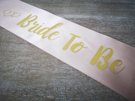 Pink Bride to be Sash 48533