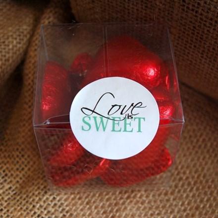 Green 'Love is Sweet' Stickers 30pcs green-love-is-sweet-30