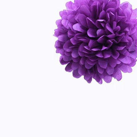 Purple Tissue Pom Pom - Small Purple-Tissue-Pom-Pom---Small