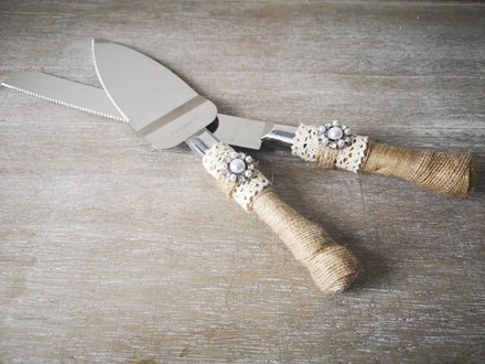 Rustic Cake Knife & Server Set Rustic-Cake-Knife-&-Server-Set
