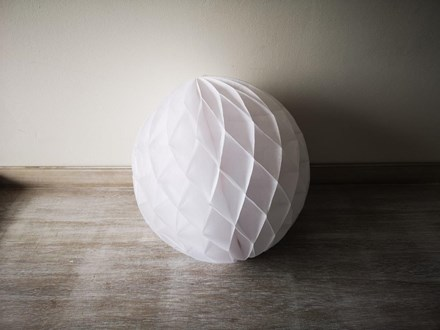 White Honeycomb Lantern 30cm White-Honeycomb-Lantern-30cm