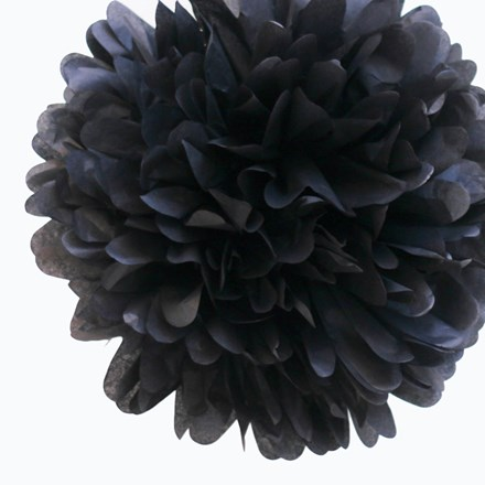 Black Tissue Pom Pom - Large Black-Tissue-Pom-Pom---Large