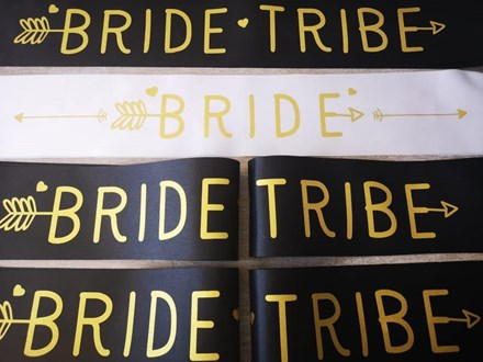 Bride and Team Bride Sashes 6psashes