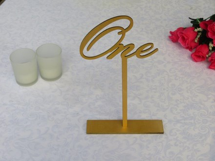 Wooden Gold Table Numbers 1 - 20 Wooden-Gold-Table-Numbers-1--- 20