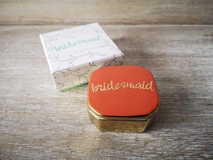 'Bridesmaid' Trinket Box bridesmaidbox