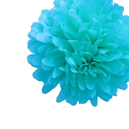 Aqua Blue Tissue Pom Pom - Medium Aqua-Blue-Tissue-Pom-Pom---Medium