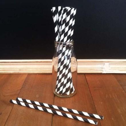 Vintage Paper Straws Black & White Vintage-Paper-Straws-Black-&-White