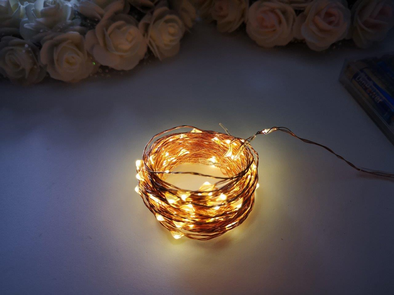 10m Seed Lights Warm White Copper Wire 10m-Seed-Lights-Warm-White-Copper-Wire