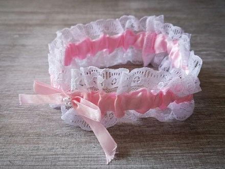 Pink Satin and Lace Garter Pink-Satin-and-Lace-Garter