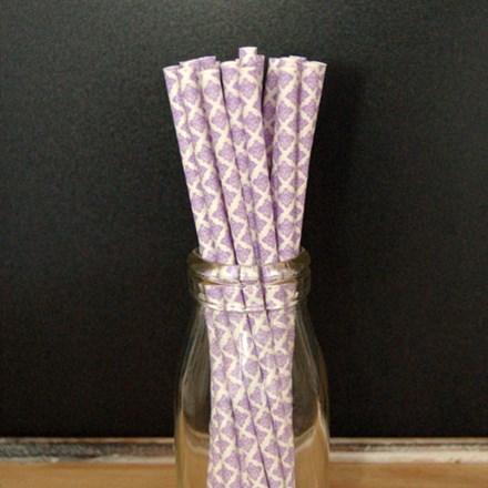 Lavender Damask Paper Straws Lavender-Damask-Paper-Straws