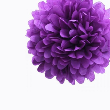 Purple Tissue Pom Pom - Medium Purple-Tissue-Pom-Pom---Medium