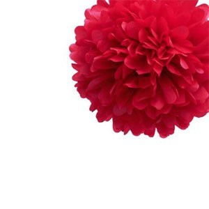 Red Tissue Pom Pom - Small Red-Tissue-Pom-Pom---Small