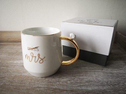 Miss to Mrs Ring Handle Mug Missmrsringmug