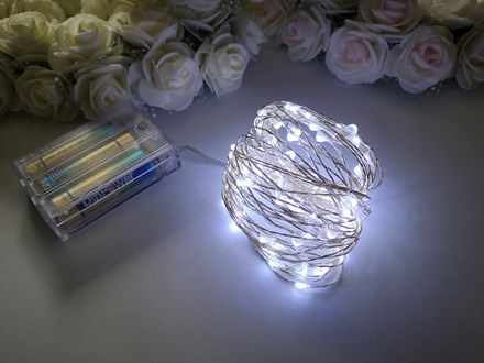 10m Seed Lights Cool White Silver Wire 10m-Seed-Lights-Cool-White-Silver-Wire