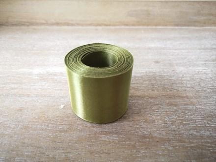 Olive Satin Car Ribbon - 7mtrs 10118