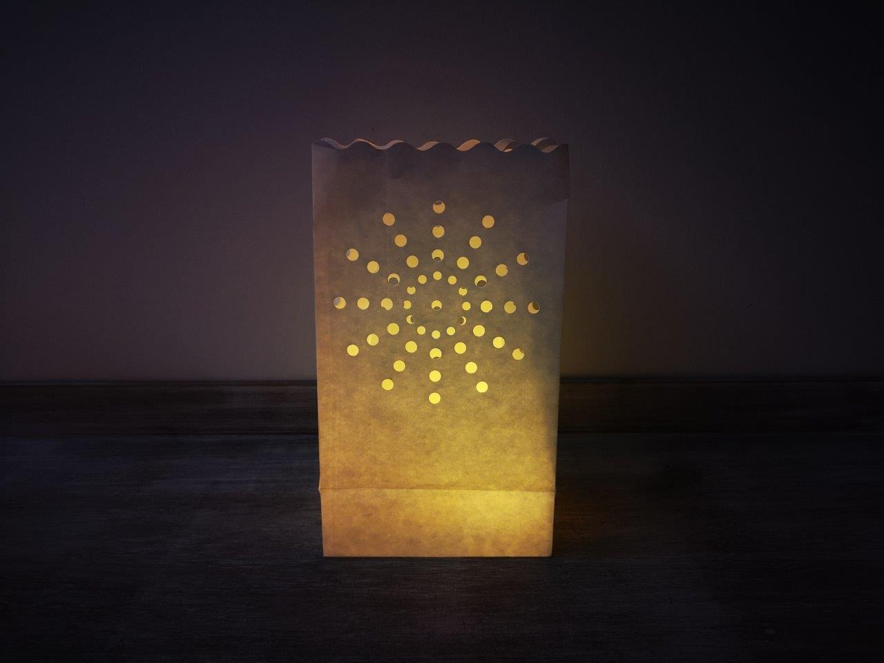 10P Starburst Luminary Candle Bags Luminary-Candle-Bags-Starburst--Pack-of-10