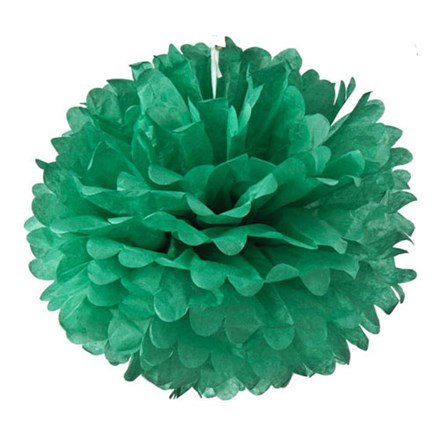 Teal Tissue Pom Pom - Medium Teal-Tissue-Pom-Pom---Medium
