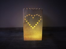 10P Heart Luminary Candle Bags Luminary-Candle-Bags-Heart--Pack-of-10