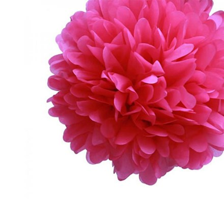 Fuchsia Tissue Pom Pom - Medium Fuchsia-Tissue-Pom-Pom---Medium
