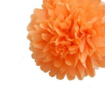 Orange Tissue Pom Pom - Medium Orange-Tissue-Pom-Pom---Medium
