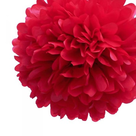 Red Tissue Pom Pom Large Red-Tissue-Pom-Pom-Large