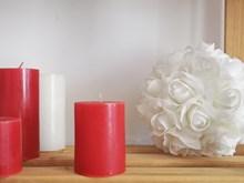 Red Pillar Candle Medium Red-Pillar-Candle-Medium