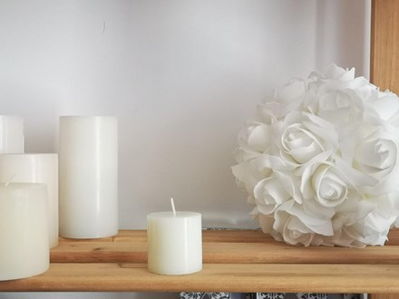 Ivory Pillar Candle 5cm x 5cm Ivory Pillar Candle