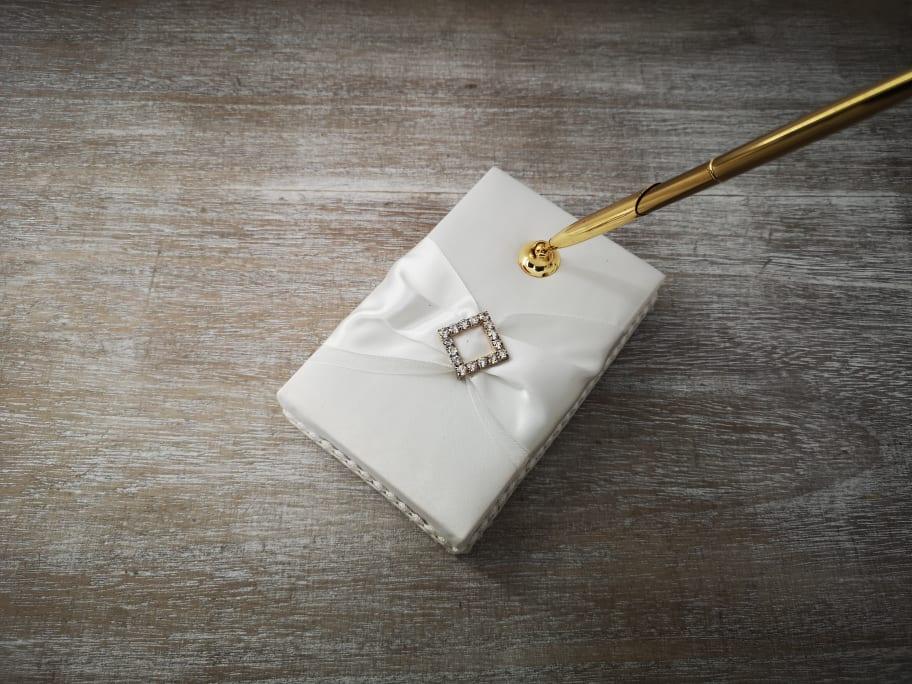 Ivory Satin Wedding Pen Set Ivorypen