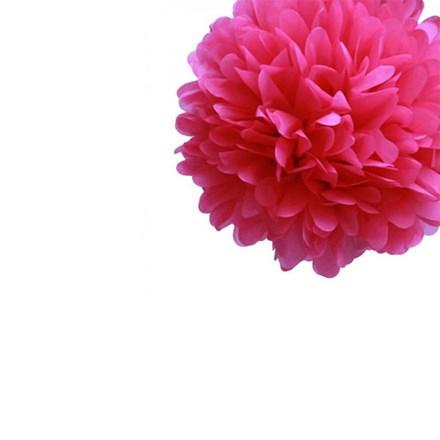 Fuchsia Tissue Pom Pom - Small Fuchsia-Tissue-Pom-Pom---Small