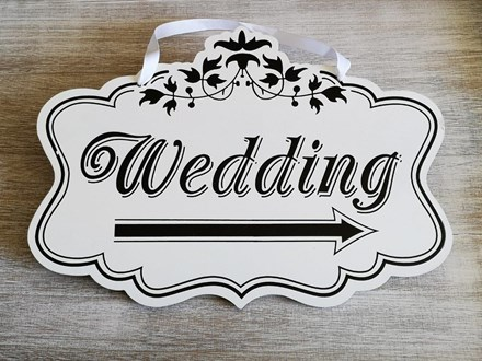 Wooden Wedding Direction Sign Right Wooden-Wedding-Direction-Sign