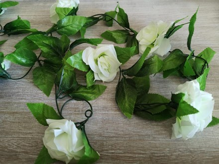 White Rose Garland 2.4mtrs White-Rose-Garland-2.4mtrs