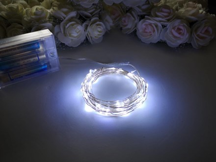 5m Seed Lights Cool White Silver Wire 5m-Seed-Lights-Cool-White-Silver-Wire