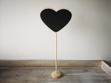 Heart Chalkboard Table Marker heartblackboard